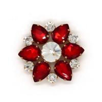 Buy cheap Sun Flower Shape Decorative Shoe Clips 50*50mm Fashion Style For Ladies from wholesalers