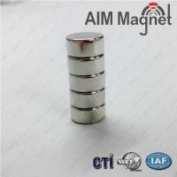 Buy cheap D12 x 6mm Rare Earth Cylinder Round NdFeB Magnet from wholesalers