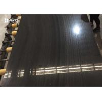 Buy cheap Guizhou quarry high glossy black wood marble 18 mm revers cut and Sandblasting from wholesalers
