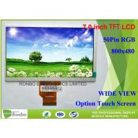 """Wholesale High Brightness 7"""" 800*480 Industrial LCD Screen Display 50pin RGB Interface For Outdoor Products from china suppliers"""