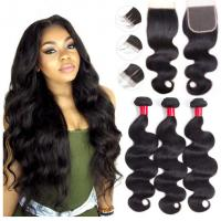 Buy cheap Body Wave Human Hair Unprocessed Indian Remy Hair Weave For Ladys Extensions product