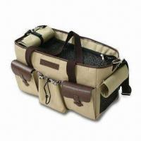 Wholesale Pet Carrier Bag with Three Storage Pockets and Adjustable Shoulder Strap from china suppliers