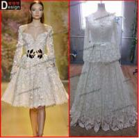Buy cheap Surmount Design Real Sample Beautiful Lace Long sleeve Zuhair Murad Dress For Sale from wholesalers