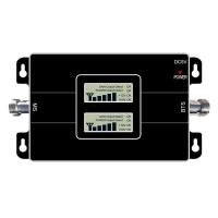 Buy cheap 900/1800MHZ  cellular signal booster,17dbm output enchancer,with LCD display amplifier,65dbi cellphone pico repeater from wholesalers