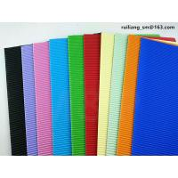 Buy cheap Lake Blue Corrugated Paper Sheets Kindergarten Construction Paper Eco Friendly from wholesalers