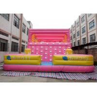 Buy cheap Lovely Inflatable Interactive Games Blow Up Rock Climbing Wall For Kids from wholesalers