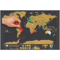 Buy cheap Cheap customize Printing paper world map scratch from wholesalers