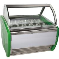 Buy cheap Stainless Steel 16 Tanks Ice Cream Display Freezer / Cooler Showcase from wholesalers