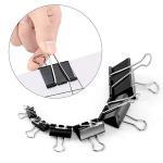 Buy cheap Fancy Office Black Folder Binder Paper Clip  metal folder iron binder paper clip from wholesalers