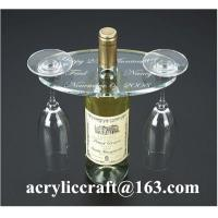 Buy cheap Personalized Engraved Transparent Oval Acrylic Two Wine Glass Holder from wholesalers