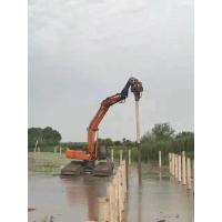 Buy cheap 32Mpa Concrete Pile Driving Equipment , Excavator Mounted Sheet Pile Driver from wholesalers