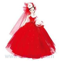 China Doll in Wedding Dress Mixed with Chinese Classical Red on sale