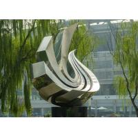 Wholesale Large Polished Stainless Steel Sculpture , Outdoor Metal Sculpture For Garden from china suppliers