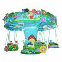 Buy cheap CE Standard Kids Flying Chair Ride 12 Riders Flower Fairy Shape FRP Roof from wholesalers