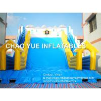 Buy cheap Quadruple Stitches Giant Snow Inflatable Slide Rental For Christmas Activity from wholesalers