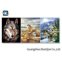 Wholesale 3D Effect Lenticular Flip Wolf / Eagle Pattern PP / PET Material Wall Poster from china suppliers