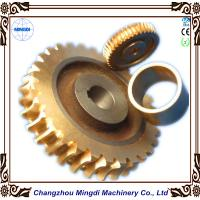 Buy cheap Copper Ra 0.4 - 0.8 Stepper Motor Single Hellical Worm Gear Parts for Worm Gearbox from wholesalers