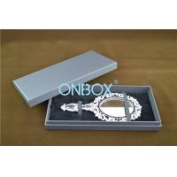 Buy cheap Lid Off Packer Design Solid Cardboard Box With 2 Alternative Insert Pads For Big Necklace And Mirror product