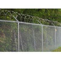 Buy cheap Chain Link Fence Top With Barbed Wire Or Razor Wire In High Security from wholesalers