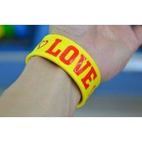 Buy cheap cheap silicone slap bracelet , silicone bracelets wristband price from wholesalers