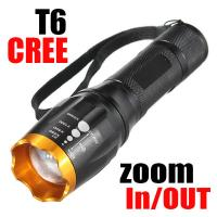 2000lm CREE XM-L T6 LED Zoomable Adjustable Falshlight Torch Lamp(18650&AAA) for Camping Manufactures