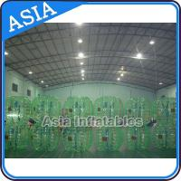 Buy cheap Beautiful 1.0mm PVC Green Inflatable Bubble Football For Soocer Games from wholesalers
