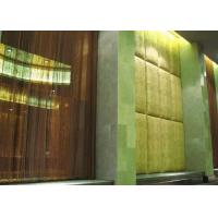 Buy cheap Decorative Metal Mesh Curtains Lightweight For Hotel / Lobby Gold / Gunmetal from wholesalers