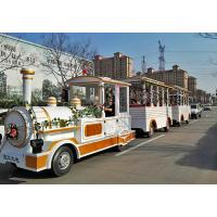 Buy cheap Outdoor Electric Trains Sightseeing Tourist Road Train 4m×1.65m×2.5m Train Head Size from wholesalers