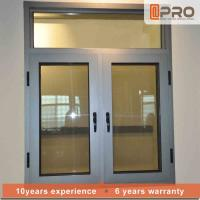 Buy cheap Color Optional Aluminium Flush Casement Windows With Security Wire Mesh from wholesalers