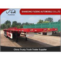 China 3 Axles 40 FeetFlatbed Container Trailer With 12 Units THT Lock Selling on sale