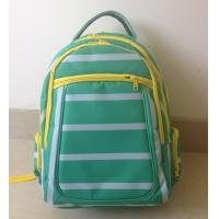 Wholesale OEM ODM Green White Polyester Striped High School Backpacks with Laptop Pocket from china suppliers