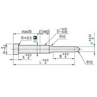 Buy cheap MISUMI / DIN Flange Fixing Pilot Punch DICOAT treatment , Tip R type from wholesalers