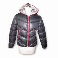 China Girl's Juniors Coat/Jacket with Polyfill Padding, Made of 100% Polyester on sale