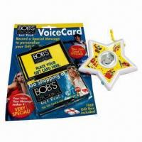 Buy cheap Recording Star/Voice Card, Suitable As Gifts and Promotional Items from wholesalers