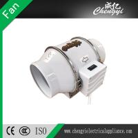 Buy cheap 4 inch Plastic Inline Duct Fan Pipe Type Ventilation Exhaust Fan for Ceiling Mounted from wholesalers