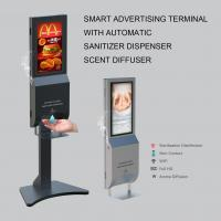 Buy cheap Smart Digital Display Advertising Automatic Hand Sanitiser Dispenser from wholesalers
