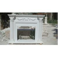 Buy cheap China Factory directly sale Top Quality Home decoration big fireplace mantel carved flower from wholesalers
