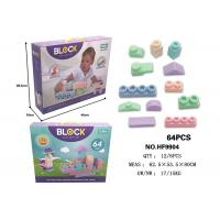 "Wholesale 64 Pcs 4.9 "" Large Soft Rubber Building Blocks , Age 12 Months Educational Baby Toys from china suppliers"