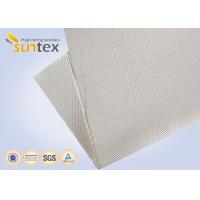 Buy cheap 12H Satin High Silica Fabric Fiberglass Cloth 1200g Welding Protection Blanket Fire Barrier from wholesalers