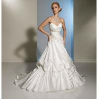 Quality Backless Elegant Beaded Satin Long Wedding Dresses Of Generous Bra Design for sale