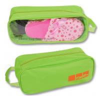 Buy cheap 600D Polyester Travel Shoe Storage Bag Slippers Packaging Organizer Pouch With Transparent PVC Window product