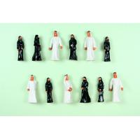 100pcs Painted Architectural Scale Model People Figures , Train Passenger Scale OO (1 to 75) Arabs  2.8cm AP75-6 Manufactures