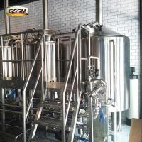 Commercial 220V / 380V Pub Brewery Systems With Three Vessels , 20 BBL Brewhouse Manufactures