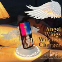 Latest 10w Fast Charging Wireless Charger Angel Wings Mobile Phone Wireless Charger