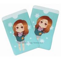 China Pretty little girl plastic card holder , environment friendly ID card holder on sale