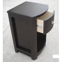 MDF Board Bedroom Furniture Bedside Tables , Side Mounted Tall Night Stand