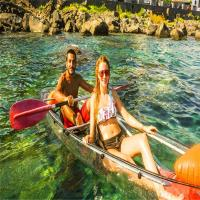 Buy cheap 6mm Thickness See Through Bottom Crystal Clear Kayak With Paddles For Surfing from wholesalers