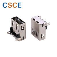 Buy cheap SMT Solder Mini USB Connector , Offset USB Solder Connector Bronze Contact Material from wholesalers