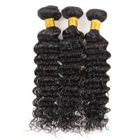 Buy cheap 100 Grams Indian Human Hair Weave Deep Wave Hair Extensions Real Hair product