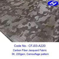 Buy cheap 0.3mm Camouflage Jacquard Fiber 3K 3D Carbon Fiber Fabric product